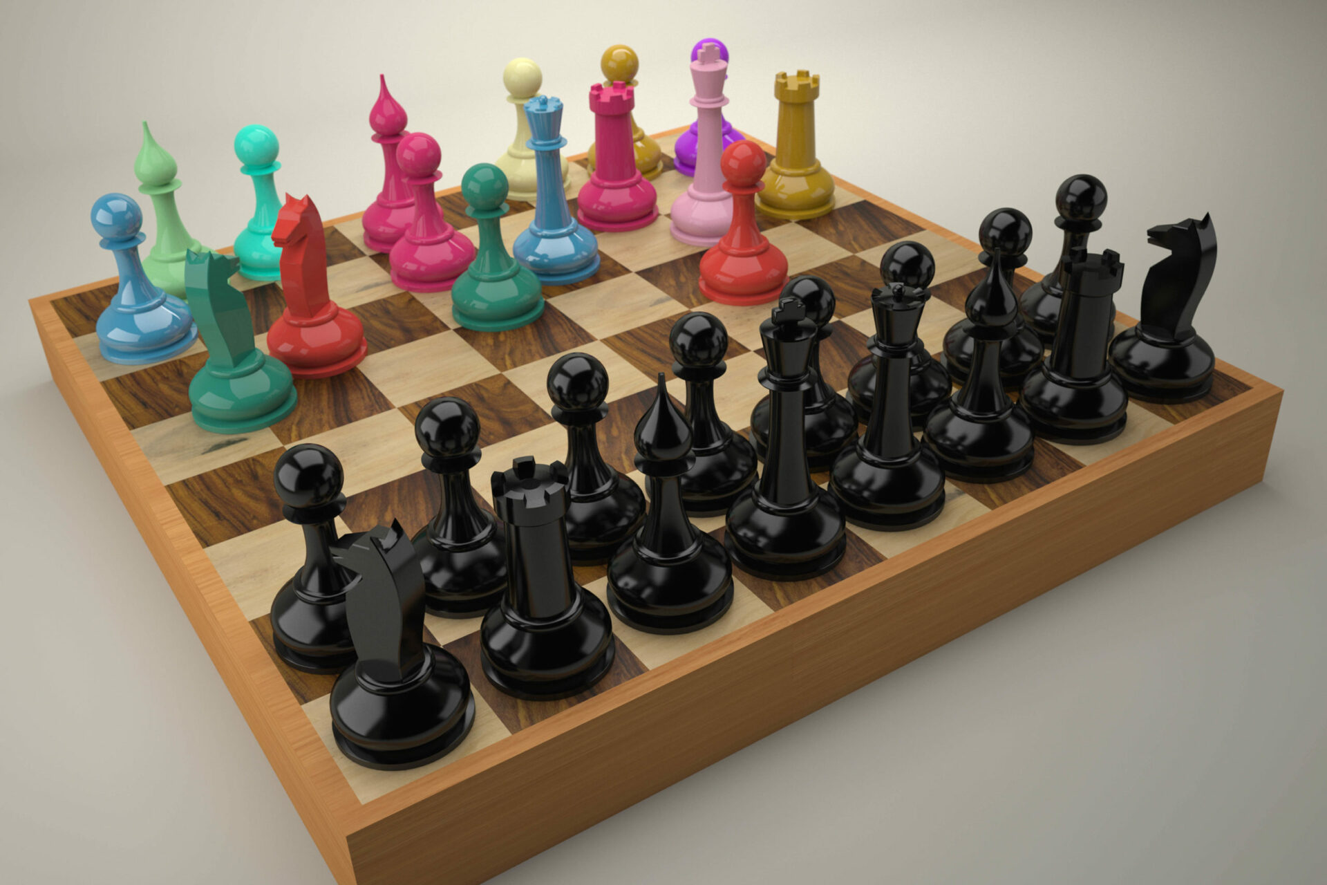 Disordered,Color,Chess,Team,Vs.,Regular,Black,Team